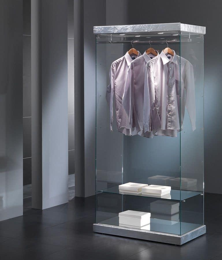 Vetrina per esposizione abbigliamento, in vetro, per negozi | IDFdesign