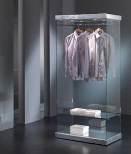 Black&White 9/SA, Vetrina per esposizione abbigliamento, in vetro,  per negozi