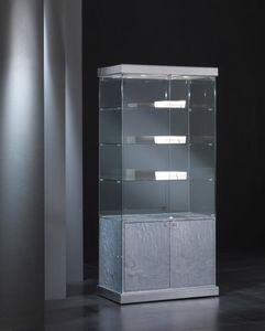 Black&White 9/SM, Vetrina con serratura, con illuminazione integrata