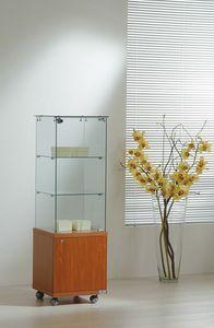 Laminato Light 4/14M, Vetrina espositiva, con mobiletto in legno