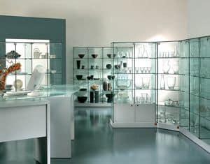 Arredi residenziali vetrinette derivati del legno con illuminazione