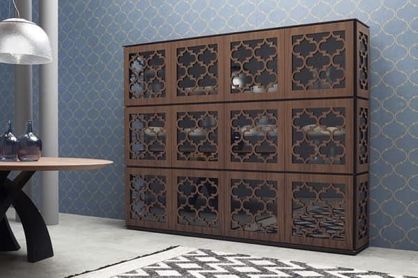MARRAKESH, Vetrina in legno in stile mediorientale
