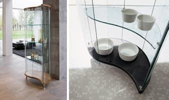 OREGINA, Mobile espositore in vetro temperato, varie finiture