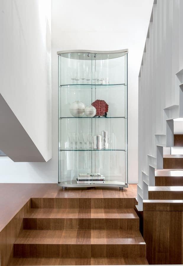 Mobile espositore in vetro temperato varie finiture idfdesign - Mobile vetrina moderno ...