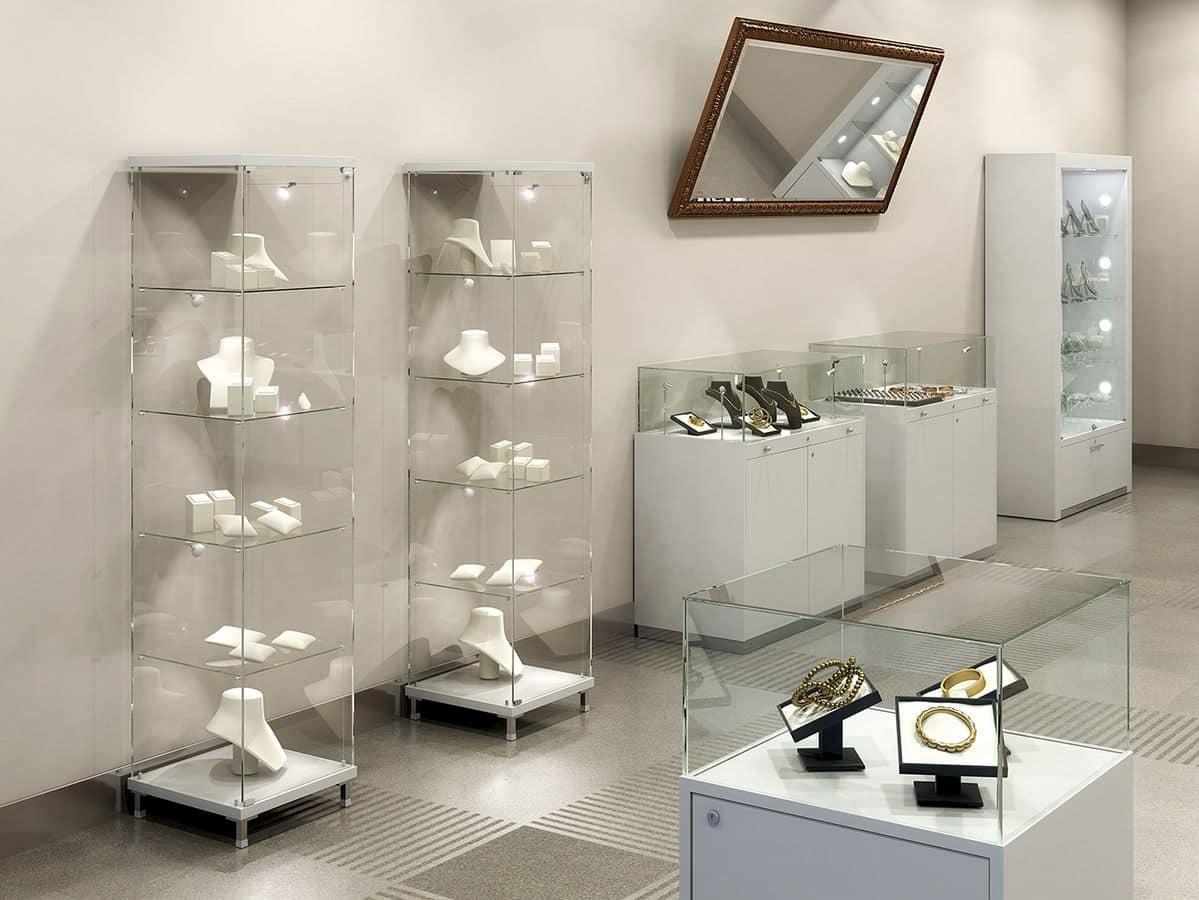Mobile esposizione vetrina moderna per gioielleria idfdesign