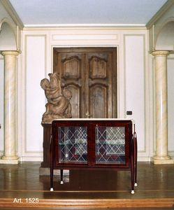 Ruhlmann Art D�co Art. 1525, Vetrina bassa con vetri molati