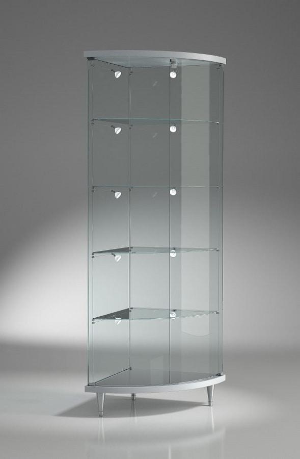 Vetrina ad angolo, con ripiani regolabili | IDFdesign