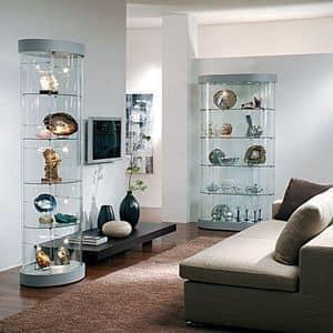 Top Line 9 mod.9, Espositori, vetrinette in vetro, base a specchio, per nogozi