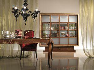 VL20 Dandy, Vetrina-libreria quadro dorato