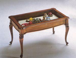 2175 TAVOLINO, Tavolino con teca espositiva, prezzo outlet