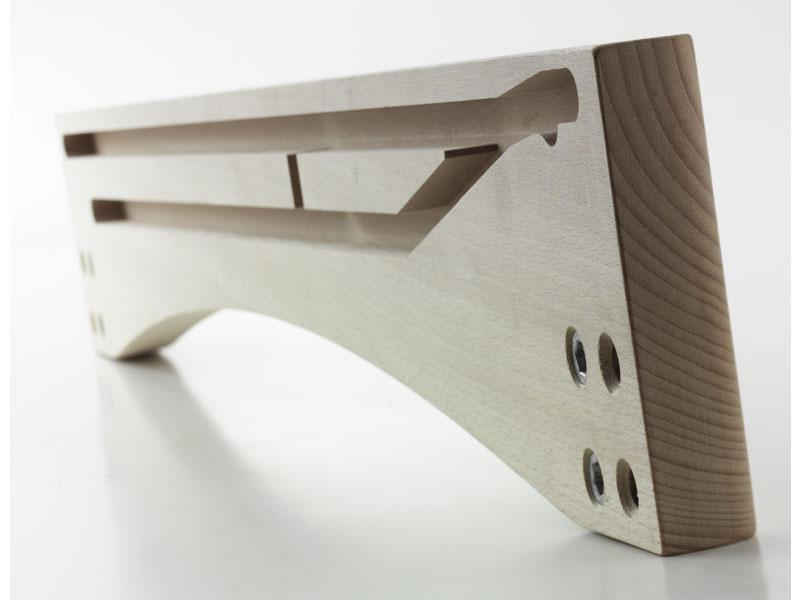 SPONDINA, Sponda per tavolo allungabile in legno