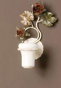 AB.8070, Portaspazzolino con decorazioni floreali