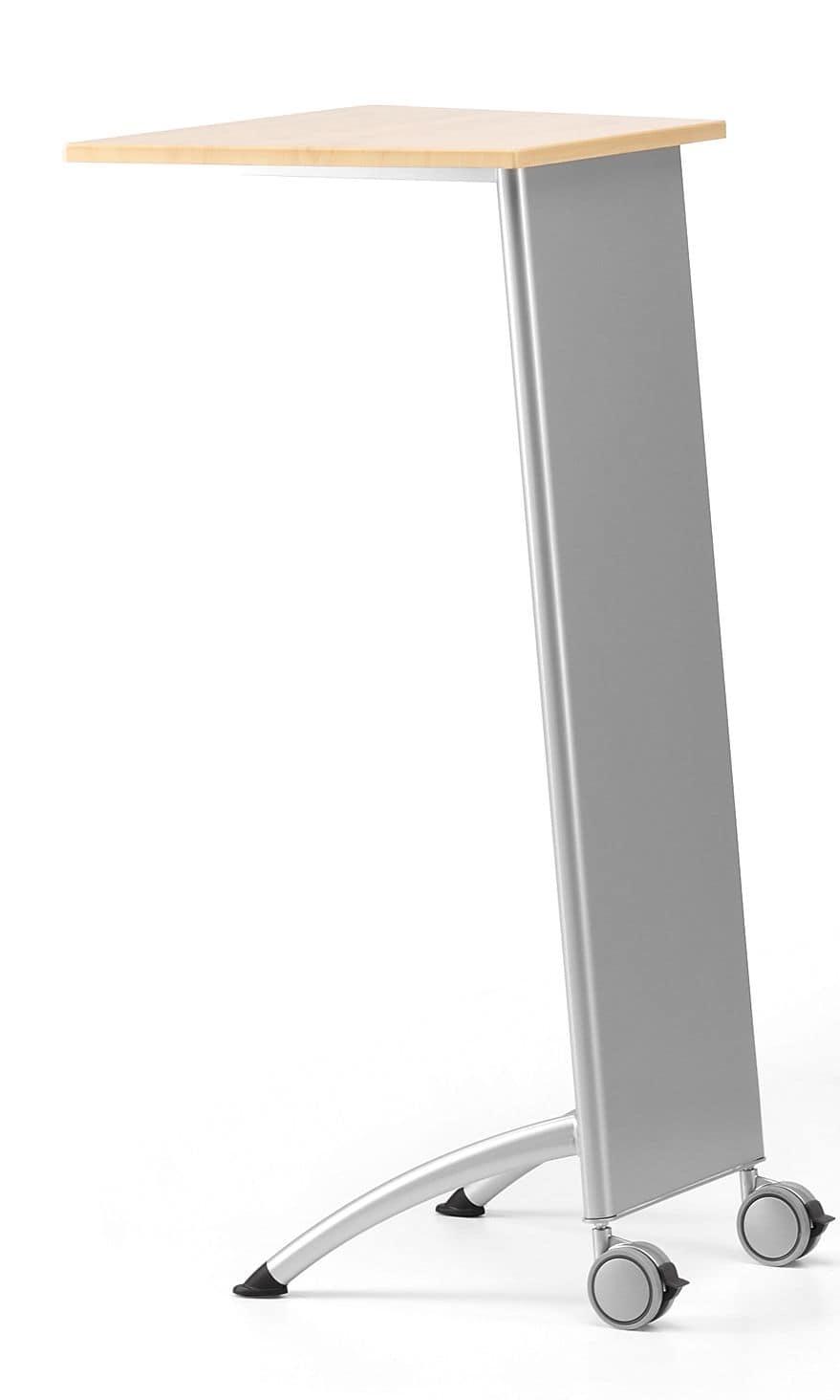 MULTIKOM 3002, Leggio su ruote, base in metallo e piano in laminato