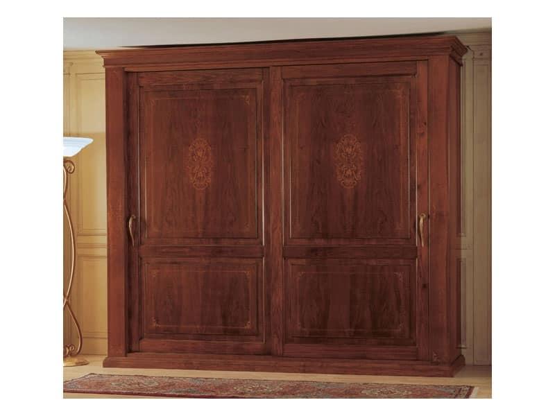 Art. 2004/279 '800 Francese Luigi Filippo, Armadio in legno, un mobile classico per camera da letto