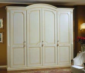 Elios armadio, Armadio guardaroba in legno con ripiani e cassettiera