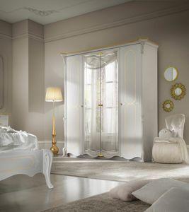 Giulietta Art. 3315 - 3415, Elegante armadio laccato bianco