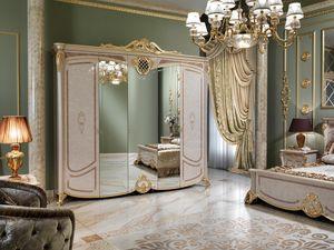 Isabelle armadio, Lussuoso armadio con 3 ante a specchio