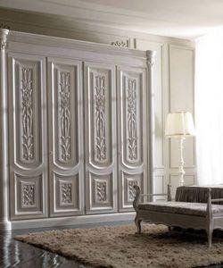 Luigi XVI Art. AR01/L/250, Armadio in legno chiaro, per camere stile classica