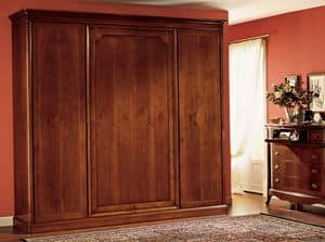 Opera armadio anta legno, Guardaroba con 4 ante, in legno tamburato