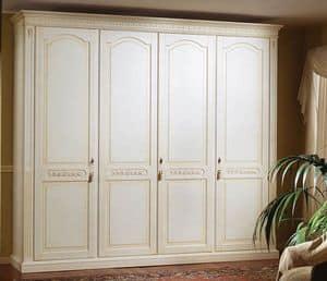 Pictor armadio, Guardaroba di lusso laccato con 4 porte