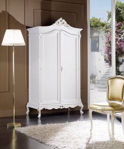 Regency armadio 2 porte, Armadio classico, laccato bianco