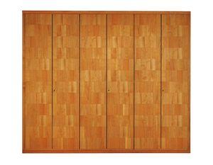 '900 0362, Armadio in legno con pregiata impiallacciatura