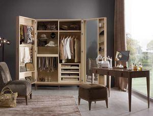 Ambrogio armadio, Armadio in legno, con specchiera interna