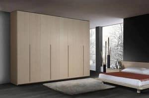 Armadio 22, Armadio moderno in legno, 6 ante battenti, per camere da letto