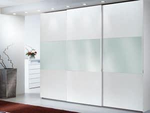 Armadio Zen 02, Armadio con specchiera, ideale per alberghi lussuosi