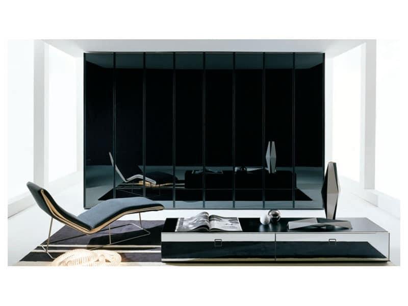 ATLANTE SHEER comp.02, Armadio con maniglia invisibile, per alberghi di lusso