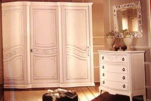 Boheme, Armadio 3 ante per camere da letto, in stile classico di lusso