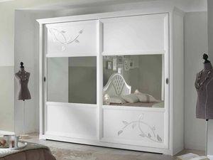 Camelia armadio, Armadio bianco con ante scorrevoli a specchio