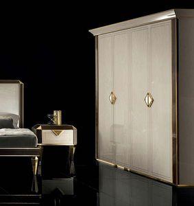 DIAMANTE armadio, Armadio per camera da letto, in stile classico