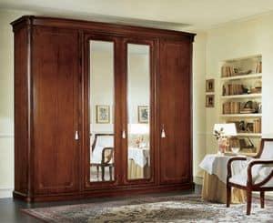 Gardenia armadio con specchio, Armadio con specchi molati e cassettiera interna