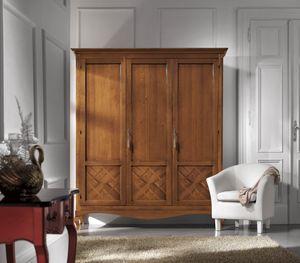 Armadio 3 porte intarsio, Armadio in stile classico