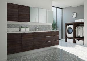 Spazio Time comp.08, Mobile per lavanderia con lavatoio integrato