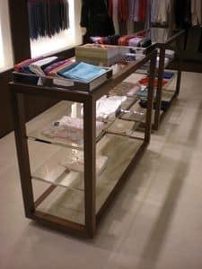 Vetrine espositive a disegno in metallo, Arredamento su misura, per negozio boutique e atelier