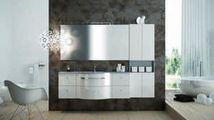 Round AM 119, Mobili con finitura lucida, ideale per bagno moderni