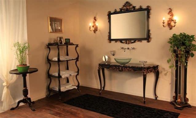 Art. 901-SH Clara, Mobile da bagno, in legno di faggio, piano in marmo