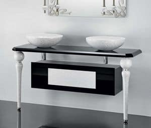 DECO FURNITURE, Mobile da bagno con gambe in ceramica