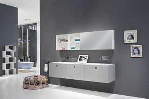 Kube 03, Elegante mobile da bagno, dalla linea moderna