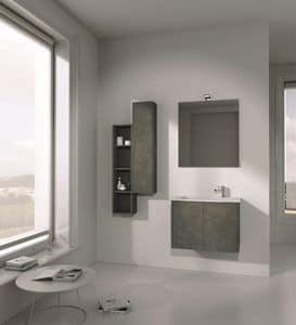 Singoli S 01, Arredamento da bagno, con lavabo integrato