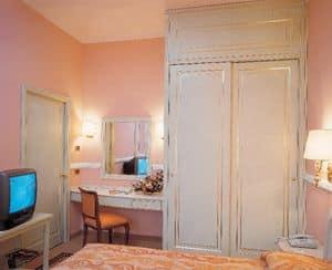 Hotel Residence Romana, Arredo per camera hotel, letto, armadio, scrittoio con specchiera, porta tv
