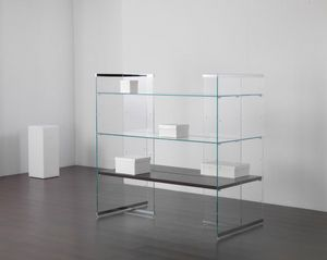 Glassystem COM/GS19, Espositore in vetro per negozio
