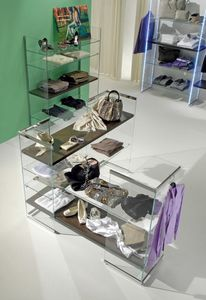 Glassystem COM/GS9, Scaffalatura angolare per negozio