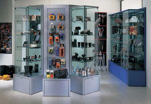Overglass comp.03, Vetrine ed elementi espositivi per negozi