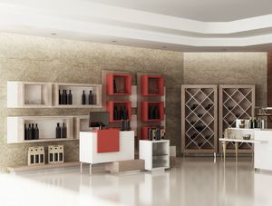 Revolution - arredo per wine bar shop, Arredo per negozi wine bar