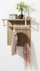 Appendiabiti Con Piano Portatutto In Legno Design Moderno, Appendiabiti con piano in legno