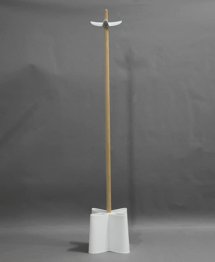 Art. 867 Dumbo, Appendiabiti a piantana, in legno e polipropilene