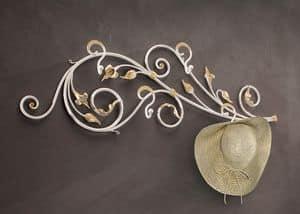 AT/510, Attaccapanni da parete in ferro battuto decorato